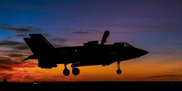 Check out these striking photos of British F-35Bs conducting night operations aboard the UK's new aircraft carrier