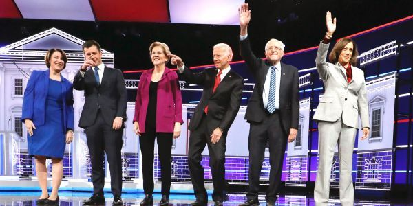 The winners of the crowded Democratic presidential debate weren't on stage on Wednesday