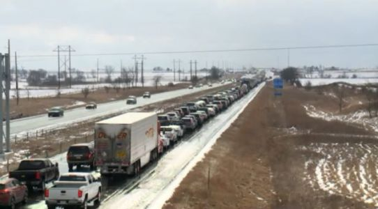 Snowfall And Driver Panic Leads To Second Huge I-35 Pileup In Two Weeks