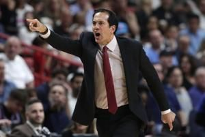 Heat coach Spoelstra misses game at Boston for birth of son