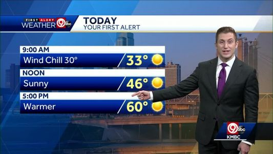 First Alert: Sunny, warmer for your Tuesday