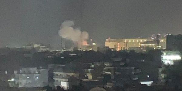 The US Embassy in Afghanistan was hit by a rocket just after the clock struck midnight on the anniversary of 9/11