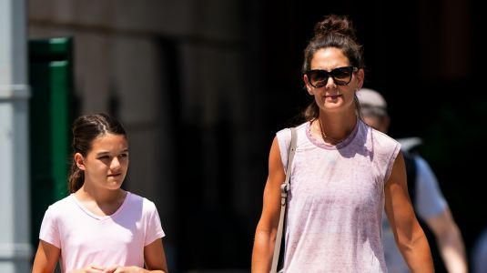 Katie Holmes and Suri Cruise Are Totally Twinning in Leisure Wear During Latest NYC Outing