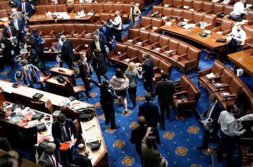 The Capitol insurrection seems to have caused a superspreader event among lawmakers. Some Republicans refused to mask up