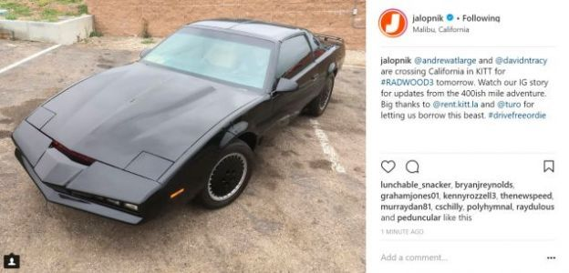 You Can Follow KITT From LA To San Francisco On Jalopnik's Instagram
