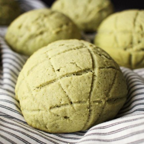 Matcha Melon Pan