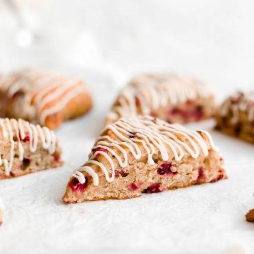 Healthy Cranberry Bliss Scones