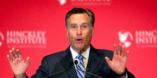 Mitt Romney operates a secret Twitter account where he defends himself against critics and slams Trump's policies
