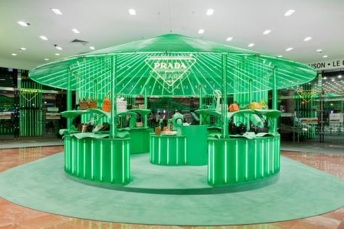 Prada Takes Over Galeries Lafayette for 'Hyper Leaves' Pop-Up