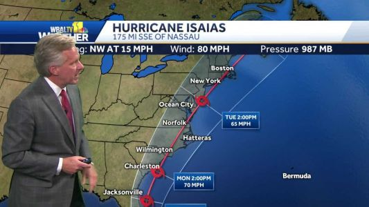 Hurricane Isaias brings torrential rain to Bahamas, see updated track