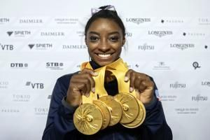 Simone Biles soars to top as AP's 2019 Female Athlete of the Year