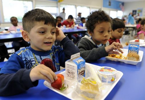 Kids across the US are eating fewer whole grains and more sugary milk in school lunches. See how federal rules have changed for the worse
