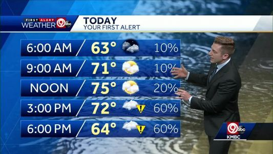 First Alert: Rain chances increase Tuesday afternoon