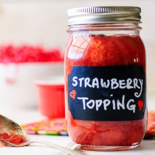 Simple Homemade Strawberry Topping