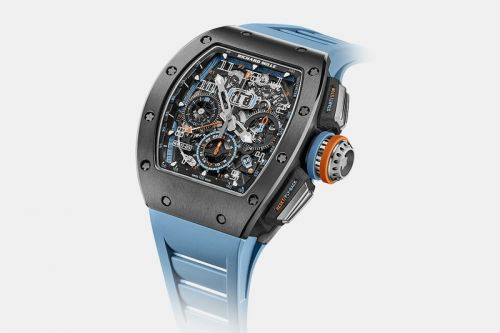 Richard Mille Unveils Baby-Blue/Orange Cermet RM 11-05 Watch