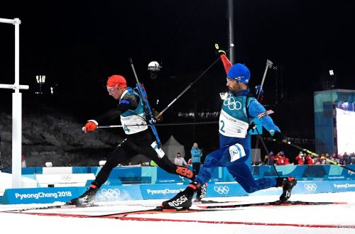 The exhausting 15km biathlon came down to a split-second and a photo finish resulting in some great images