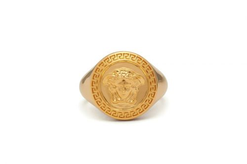 Versace Delivers Opulence With its Medusa Medallion Ring