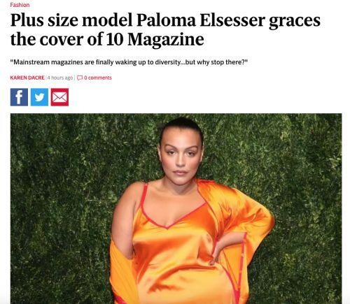 Our New Cover Starring Paloma Elsesser Makes The Evening Standard