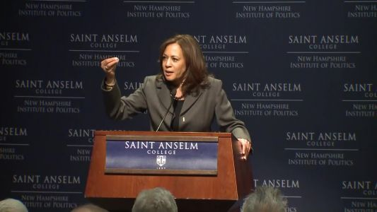 Raw video: Kamala Harris speaks at 'Politics and Eggs' event