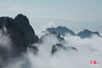 Stunning view of Huangshan Mountain