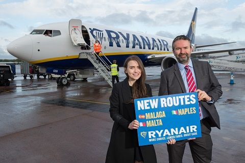 Ryanair's First Exeter Flights Take Off