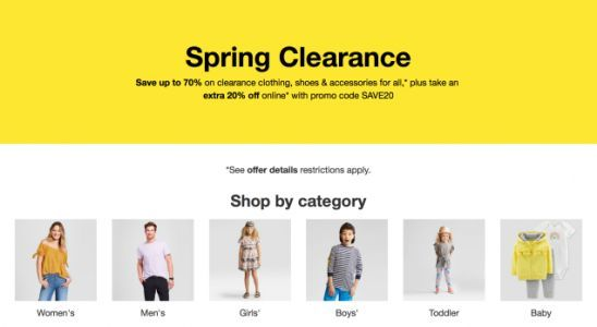 Save An Extra 20% On All of Target's Clearance Clothes