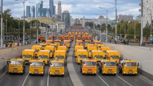 Moscow's City Day Parade Brings All The Machines