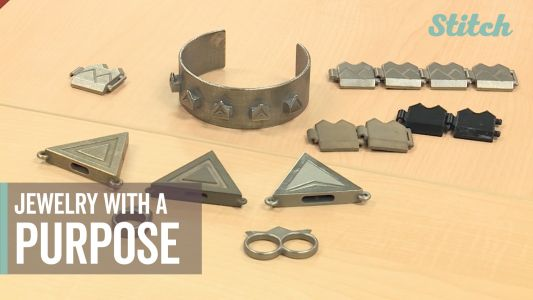 Engineering student combines stylish jewelry with practical self-defense tools