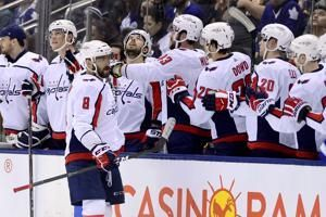 Ovechkin's milestone goal leads Capitals past Toronto 3-2