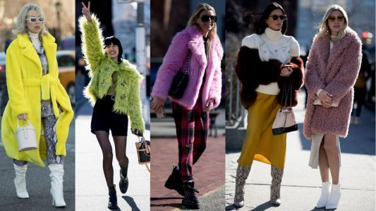 Showgoers Wore Colorful, Cozy Coats on Day 3 of New York Fashion Week