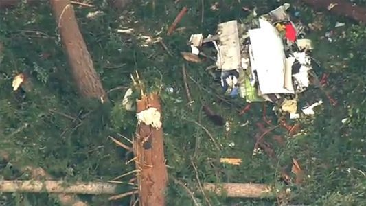 Officials recover flight data recorder from stolen plane, find human remains