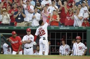 19-year-old Soto, Harper homer, send Nats over Padres 10-2