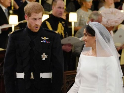 People are convinced Prince Harry said 'I'm sh-ing it' to Meghan Markle at the altar