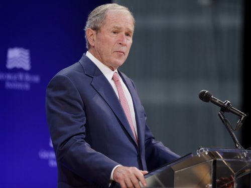 George W. Bush gave his most pointed remarks so far during Trump's presidency, saying 'bigotry seems emboldened'