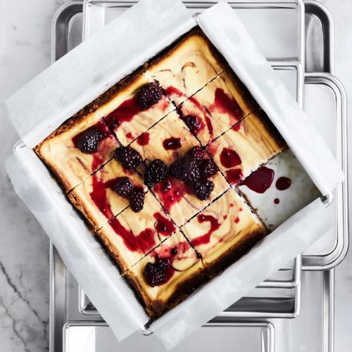 Blackberry and Lavender Cheesecake Squares