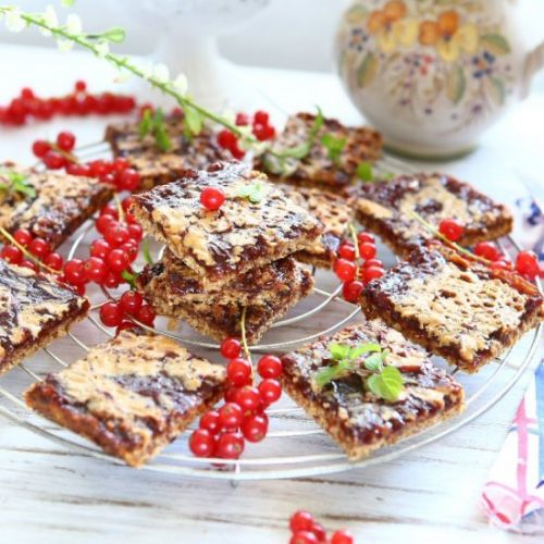 Peanut Butter Red Currant Bars