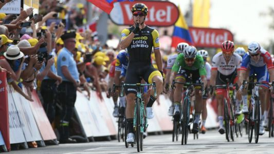 Tour de France 2018: Dylan Groenewegen takes Stage 7 win in sprint