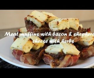 Meat Muffins With Bacon & Shepherd's Cheese With Herbs Recipe