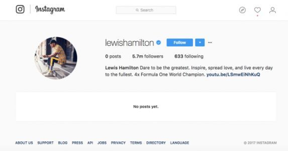 Lewis Hamilton Is Wiping His Instagram And Twitter Like We All Should Frankly