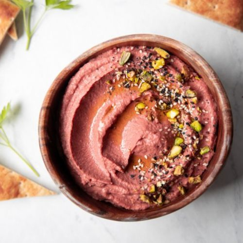 Lemon Beet Hummus