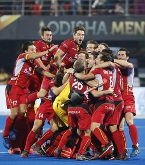 Belgium wins field hockey final after shootout with Dutch