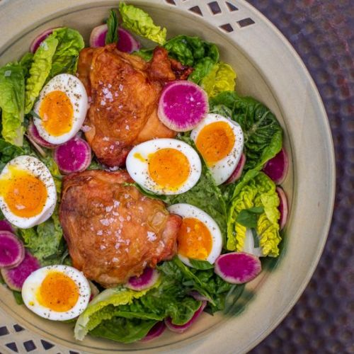 Salad with Chicken & Herb Dressing