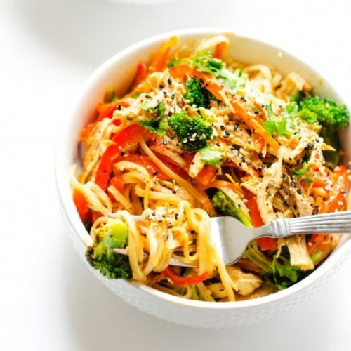 Spicy Noodle Bowl with Chicken