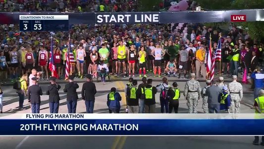 And they're off! 2018 Flying Pig Marathon underway