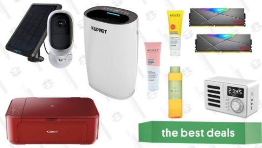 Saturday's Best Deals: Kuppet Air Purifier, Acure and Pixi Beauty Products, Canon Pixma All-in-One Printer, White Noise Machine, and More