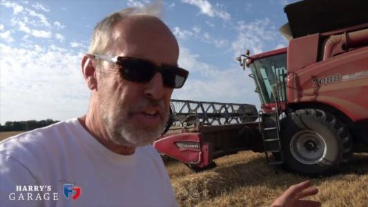 Here's How a 360 HP Turbo Diesel Combine Harvester Works