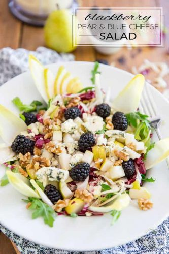 Pear, Blackberry and Blue Cheese Salad