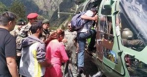 Over 40 tourists airlifted from rain-ravaged North Sikkim