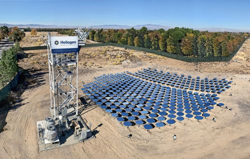 Bill Gates is backing a technology that concentrates sunlight to generate temperatures of 1,000 degrees. It looks like a mosaic of mirrors