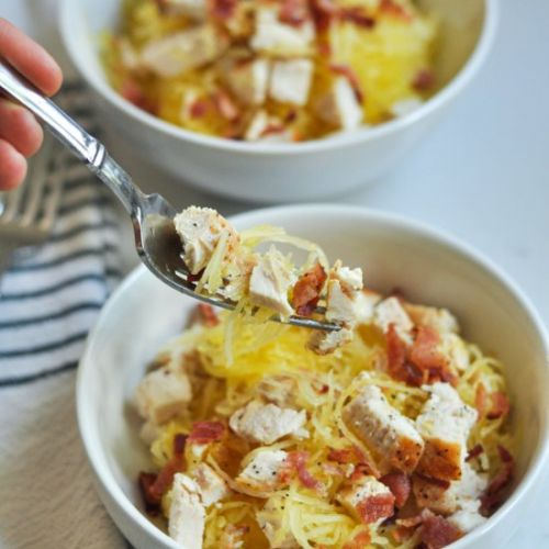 Chicken Bacon Spaghetti Squash